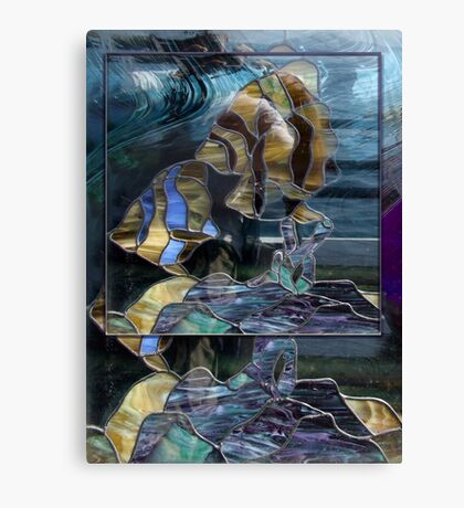 Stained Glass Fish Canvas Print