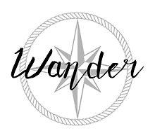 Wander - compass Photographic Print