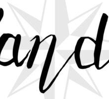 Wander - compass Sticker