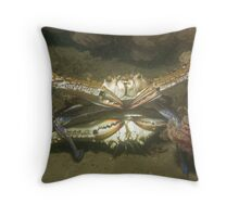 Blue Swimmer Crabs Mating Throw Pillow
