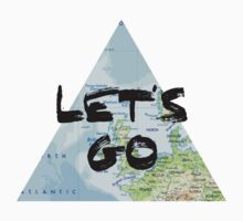 Let's Go! Triangular Europe Map One Piece - Long Sleeve