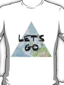 Let's Go! Triangular Europe Map T-Shirt