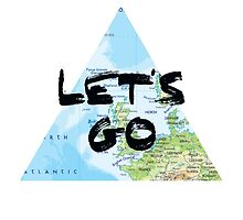 Let's Go! Triangular Europe Map by ourtinyinfinite