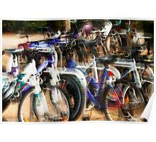The bike rack #02 Poster