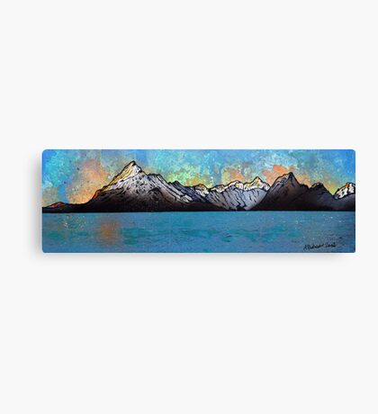 Winter Sunset Over the Cuillins, The Isle of Skye, Scotland. Canvas Print