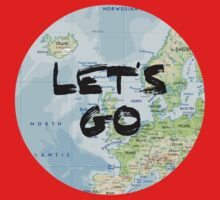 Let's Go! Rounded Europe Map One Piece - Short Sleeve