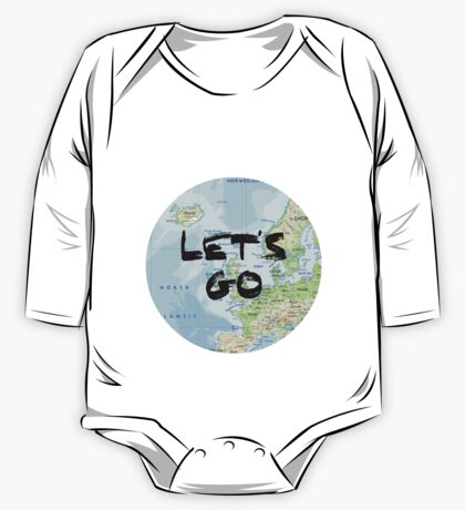 Let's Go! Rounded Europe Map One Piece - Long Sleeve
