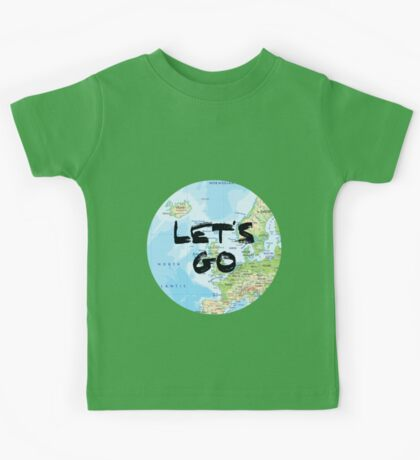 Let's Go! Rounded Europe Map Kids Tee