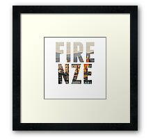 Firenze typography Framed Print