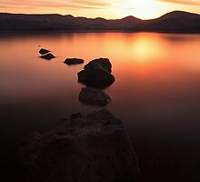 Milarrochy bay Sunset by Grant Glendinning