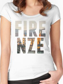 Firenze typography Women's Fitted Scoop T-Shirt