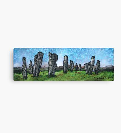 The Callanish Stones.2, Calanais, Isle Of Lewis, Outer Hebrides, Scotland. Canvas Print