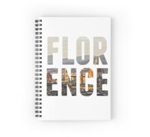 Florence typography Spiral Notebook
