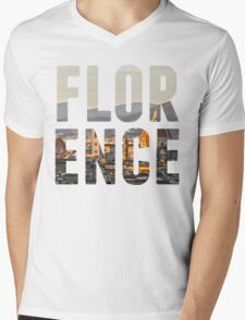 Florence typography Mens V-Neck T-Shirt