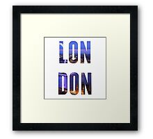 London Typography Framed Print