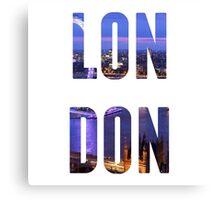 London Typography Canvas Print