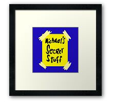 Michael's Secret Stuff - Space Jam Bottle  Framed Print