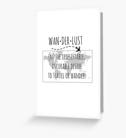 Wanderlust Tipography Greeting Card