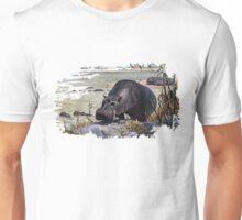 Painting of a hippopotamus Unisex T-Shirt