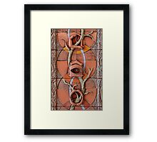 Sense Doors (detail of Lotus VII) Framed Print