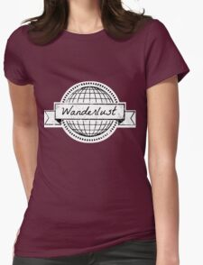 wanderlust postcard Womens Fitted T-Shirt