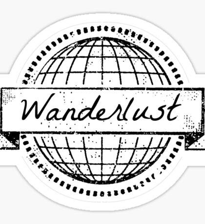 wanderlust postcard Sticker