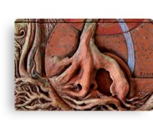Sense Door - Root (detail of Lotus VII) Canvas Print