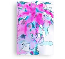 Watercolor Brushes Canvas Print