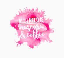 Mascara & Coffee - Pink Watercolor Unisex T-Shirt