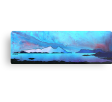 The Isle of Rum and Eigg from Sanna Bay, Scottish western Isles. Metal Print