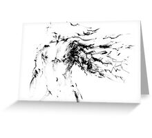 Thought Form - moving man I Greeting Card