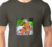 Peacock butterfly on Buddleia Unisex T-Shirt