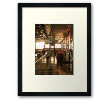 Mel's Diner Framed Print