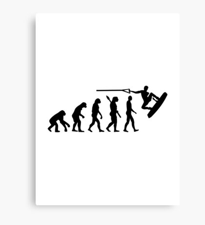 Evolution Wakeboarding Canvas Print