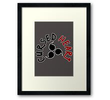 Cursed heart - Naruto-Shippude t shirt, iphone case & more Framed Print