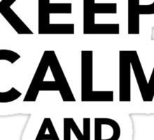 Keep calm and Wakeboard on Sticker