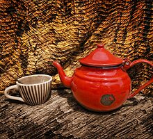 Still Life with Red Teapot by jean-louis bouzou