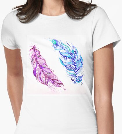 Freedom Feathers  Womens Fitted T-Shirt