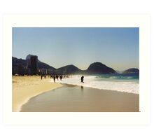 Love at the beach Art Print