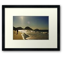 shooting in to the sun Framed Print