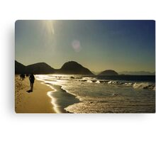 shooting in to the sun Canvas Print