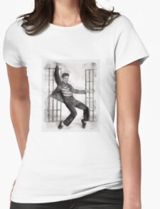 Elvis Presley by John Springfield Womens Fitted T-Shirt
