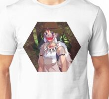 Princess Mononoke Hexagon Design Unisex T-Shirt