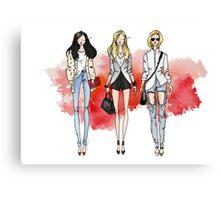 Fashion Trendy Girls Canvas Print