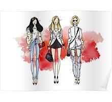 Fashion Trendy Girls Poster