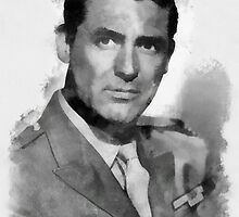 Cary Grant Actor by John Springfield by esotericaart