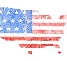USA Watercolor - Patriotic by lettersBheather