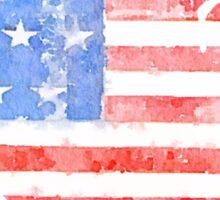 USA Watercolor - Patriotic Sticker