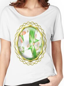 White Summer Flowers Women's Relaxed Fit T-Shirt