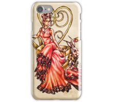 Queen of Hearts with White Rabbit on Vintage iPhone Case/Skin